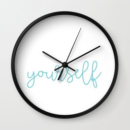 Semicolon Love Yourself Suicide Awareness Mental Supporter product Wall Clock