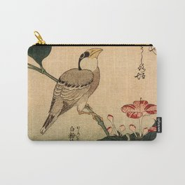 Hokusai,Hawfinch and mirabilis - manga, japan,hokusai,japanese,北斎,ミュージシャン Carry-All Pouch