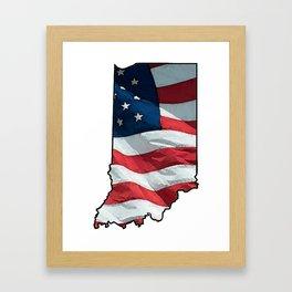 Patriotic Indiana Framed Art Print