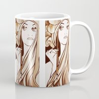 mucha Mugs featuring My Mucha by Little Bunny Sunshine