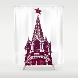 Kremlin Chimes-red Shower Curtain