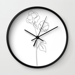 Blossom Out Wall Clock