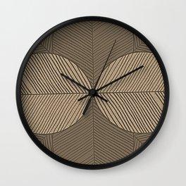 Minimal Tropical Leaves Pastel Beige Wall Clock