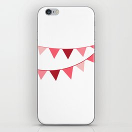 Red berry Pennant Banner iPhone Skin
