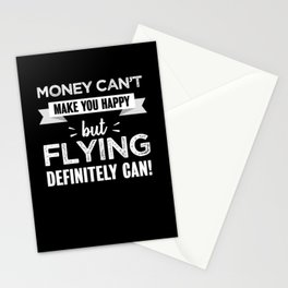 Flying makes you happy Funny Gift Stationery Cards