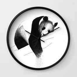 Panda Bear Wall Clock