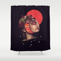 bride Shower Curtains featuring the bride by Peg Essert