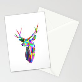 3D Stag Stationery Cards
