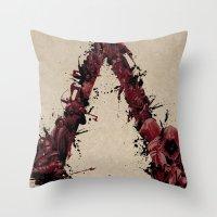 saga Throw Pillows featuring Assassin's Creed Saga by s2lart