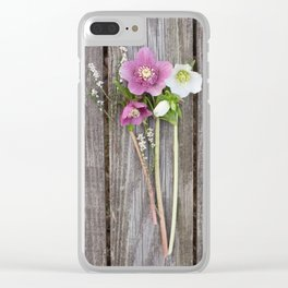 February Bouquet Clear iPhone Case