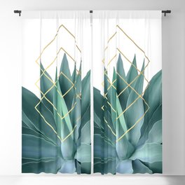 Agave geometrics Blackout Curtain