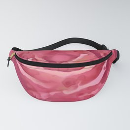 Watercolor Rose Red And Pink Shades Fanny Pack