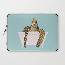 Sea Turtle in Bathtub Laptop Sleeve