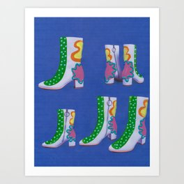 HOT DOT SQUIGGLE STOMPERS Art Print