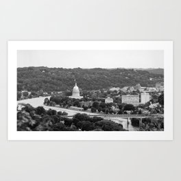 Landscape of Charleston, WV Art Print
