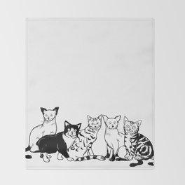 CAT AVENGER Throw Blanket