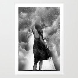 dans le vent et la pluie Art Print