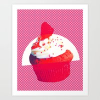 cupcake Art Prints featuring Cupcake by Mr and Mrs Quirynen