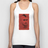juventus Tank Tops featuring World Cup Edition - Arturo Vidal / Chile by Milan Vuckovic