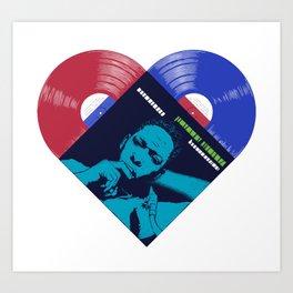 ColtraneJazz Vinyl Heart In Color Art Print