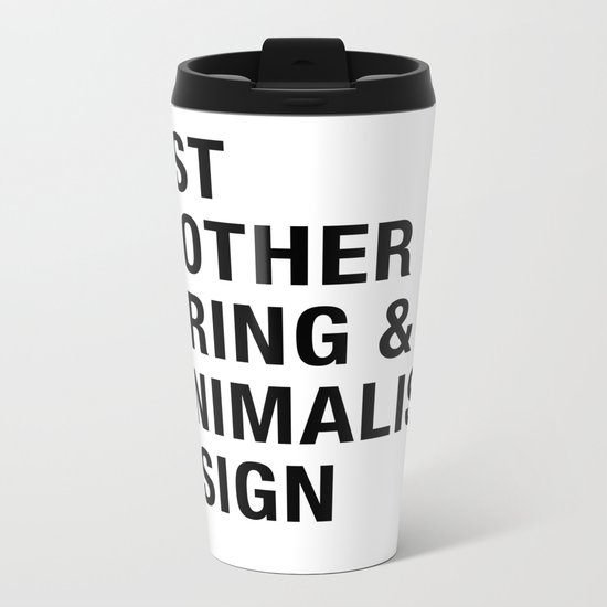 Boring and Minimalist Metal Travel Mug