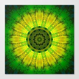 Lemon Lime Mandala Canvas Print