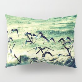seagulls in the storm Pillow Sham
