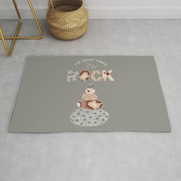 Colored Great Lakes Rock Rug