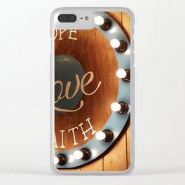 trinity Clear iPhone Case