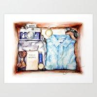 Gentleman's Adventure Kit Art Print