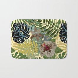 My abstract Aloha Jungle Garden Bath Mat