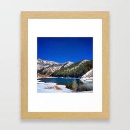 Winter Reservoir  Framed Art Print