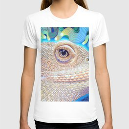Dragon Star, Bearded Dragon Lizard Art T-shirt