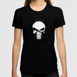 Punisher Skull Within Ripped Fabric T-shirt