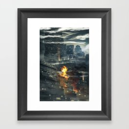 That time i burned a building down Framed Art Print