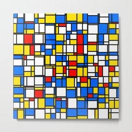Mondrian Style 2 Metal Print