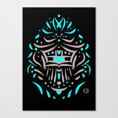 Temple of faces Canvas Print