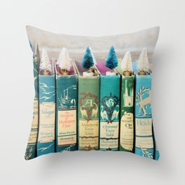Christmas in Green Throw Pillow