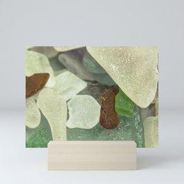 Sandy Beach Glass Mini Art Print