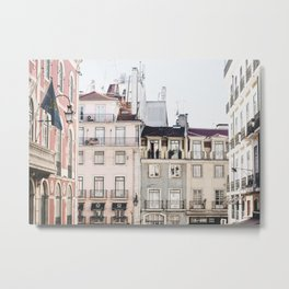 Pastel Streets of Lisbon | Portugal travel photography | whimsical fine art print | saige ash studio Art Print Metal Print