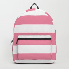 Vanilla ice - solid color - white stripes pattern Backpack