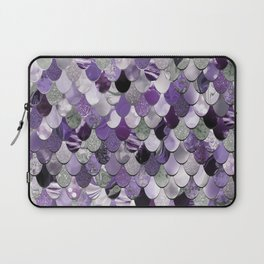 Mermaid Purple and Silver Laptop Sleeve