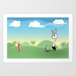 Am I Late? Art Print