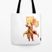 naruto Tote Bags featuring Naruto  by WTFmoments