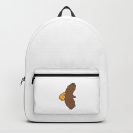 Hawks Gift for Kids and toddlers that love Hawk Outfits. Shows a funny Hawk drawing as a cartoon Backpack
