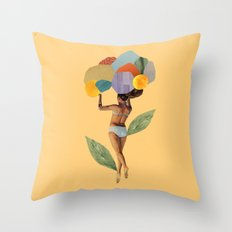 i walk out in the flowers and feel better Throw Pillow