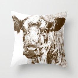 Ardnamurchan Coo - Brown Throw Pillow