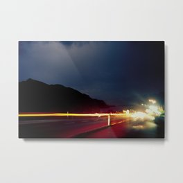 Road & Thunder Metal Print