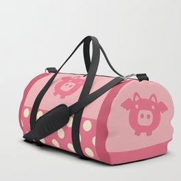 Pink Flying Pig Duffle Bag