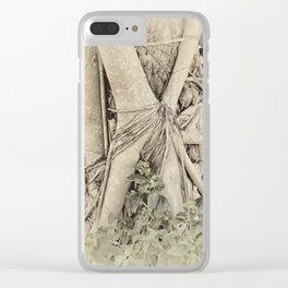 Strangler fig in forest Clear iPhone Case
